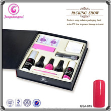 2015 Hot selling cheap price soak off gel nail polish set #015