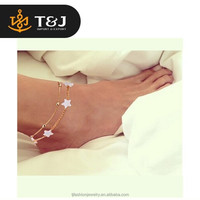 New fashion ankle bracelets foot jewelry pulseras tobilleras heart simple anklets gold anklet designs for women girl gift