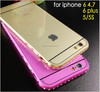 Luxury Aluminum Bumper Hybrid cell phone case for Galaxy S4/S5/S6 CO-MIX-9024