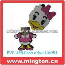 animal shape duck usb flash memory 8gb