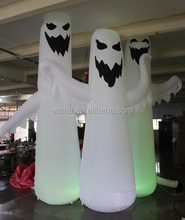 4m/13ft outdoor/indoor/halloween decoration inflatable/white/lighting inflatable ghost--W1122