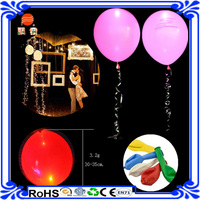 2016 new products 3.2g high quality Latex LED lights balloons for christmas decorations