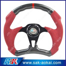 Polished spoke car steering wheel coloured steering wheel