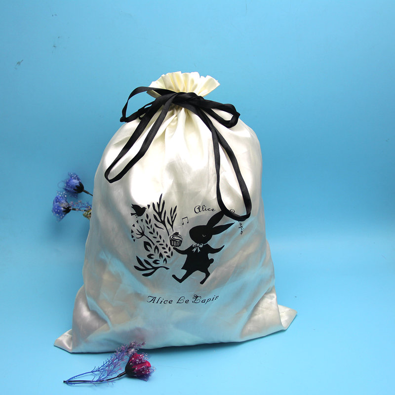 Wholesale large satin drawstring promotional bag
