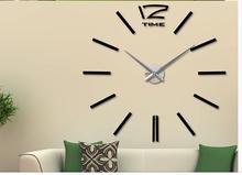 Large industrial wall clocks creative diy wall clock movement sitting room bedroom stereoscopic wall decorative hall clock