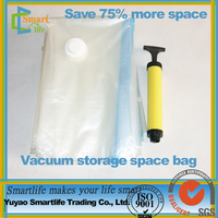 Hot sale eco-friendly PE nylon PA plastic colthes quilt space save zipper compression clothes storage bag vacuum