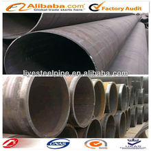 X52 LSAW Low alloy black cold formed welded steel pipe
