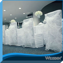 American style white cheap popular shirred spandex wedding chair covers