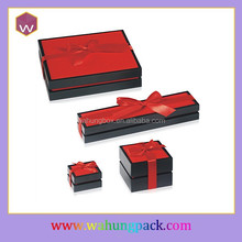wooden lacquer jewelry box with ribbon pakistan (WH-0127)