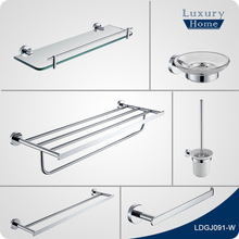 Modern solid brass polished chrome bathroom accessories