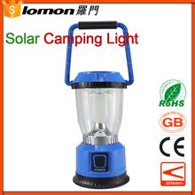 Lomon 6 Led Solar Camping Light, Plastic Rechargeable Lantern,Camping Equipment