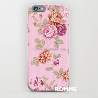 2015 new designer flower pattern hard case for apple iphone 6 the PC case with top quality case for iphone6 factory