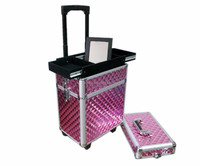 white 4-wheels aluminum travel luggage suitcase best trolley luggage suitcase