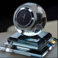 Fashion crystal clock, crystal desk clock, Crystal ball clock CK-1001