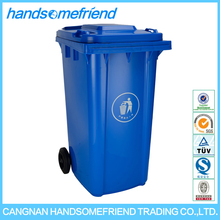 240 liters Plastic dustbin with two wheels waste bin,outdoor plastic dustbin,Large plastic dustbin