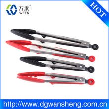 Promotional High Quality Metal Salad Tongs Food Tong With Black Handle