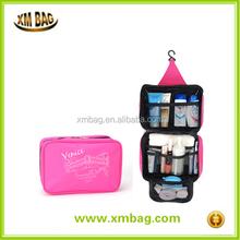 Hanging type foldable printing cosmetic bag travel toiletry kit bag