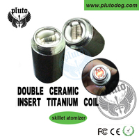 Factory offer OEM E cigarette replaceable dual coil ceramic skillet 510 wax skillet atomizer
