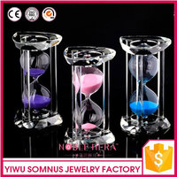 decorative crystal Hourglass / colorful half hour glass sand timer / crystal sand timer / 5 and 10 minites glass sand clock B049