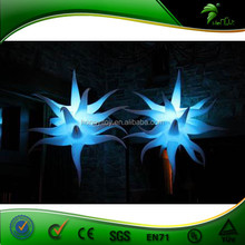 White Decoration Led Light Inflatable Star For Club, Stage