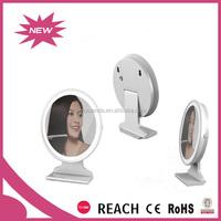 Practical round desktop bathroom cosmeitc mirror with 10pcs LED light