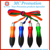 advertiting feature ballpoint pen with lanyard