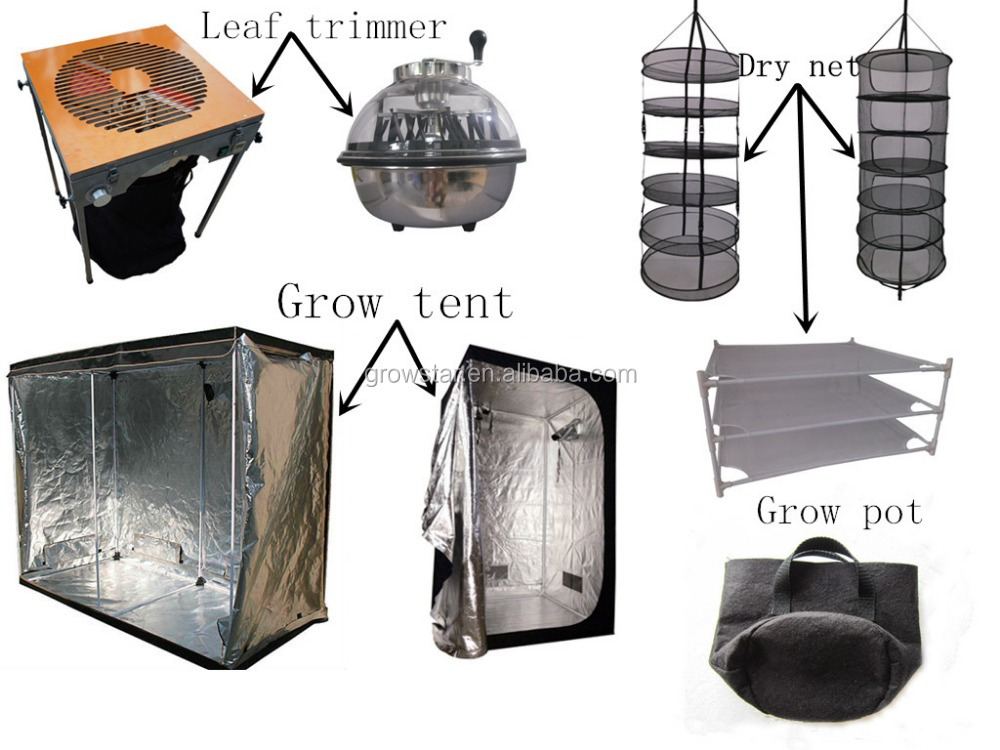 grow tent dry net leaf trimmer and grow bag.jpg