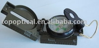 military compass with a side measuring scale