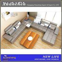 u shape sofa,u shape sofa set,artistic leather sofa set,XC-AL229