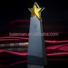 five-pointed star crystal awards and trophies