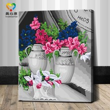 2015 hot magnolia flower oil painting by numbers 40*50cm