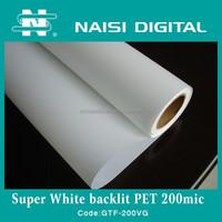 front print backlit pet film for inkjet printing 210gsm