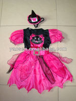 Cat fairy fancy dress costume with mini witch hat for kids