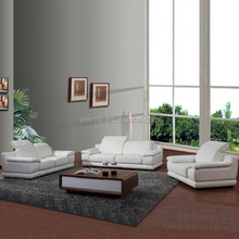 F040 french design functional white italian leather sofa