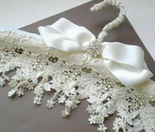 Fancy padded wedding dress hanger bridal hanger