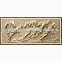 stone Carving Relief with chinese Eight fine horse