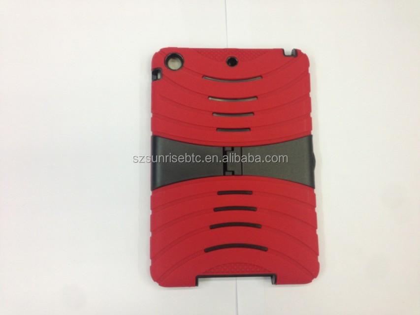 Heavy Duty Robort Case with T Kickstand Robort case shockproof Hybrid case for ipad mini