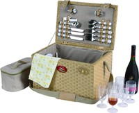 paper picnic basket for 6 person in China factory on sale