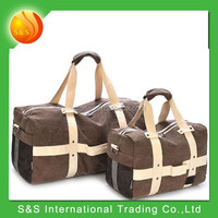 2015 hot selling leisure canvas foldable travelling luggage bag