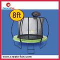 Createfun 8ft TUV-GS e padrão do CE barato ginástica ao ar livre de grande porte trampolim com cesta de basquete para venda