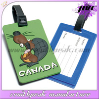 2014 Promotional gift animal shape luggage tag/plastic luggage tag strap/waterproof silicone luggage tags
