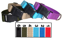 Pure Color Plastic Button Nylon Dog Collar for Other Pet