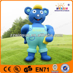 Oxford Cloth with PU coated material Inflatable car wash bear