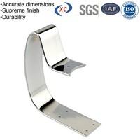 Custom chrome plated retaining clip hardware u shaped bracket