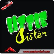 2015 Hot Sale Litter Sister Heat Transfer Glitter Vinyl Design