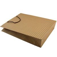 Gird Pattern printed 2014 Recycled Kraft Paper Bag