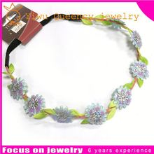 F27 Newest 12Color girl Girls chiffon Headband for Photography props rose flower Headbands infant hair accessory