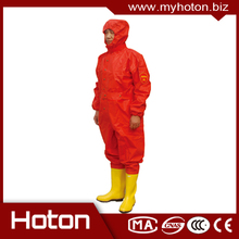 Professional gas tight chemical protective uniform with high quality