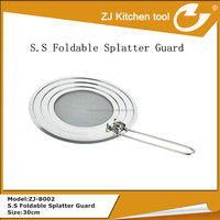 High quality stainless steel foldable splatter screen guard in kitchen
