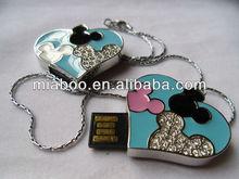 Promotional 4GB/8GB/16GB/32GB usb heart, heart shaped usb flash memory/disk